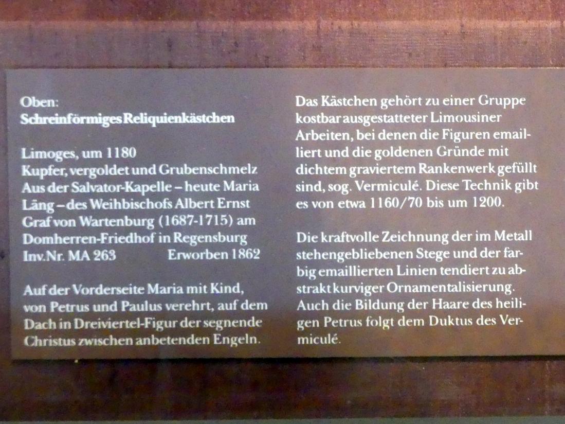 Schreinförmiges Reliquienkästchen, um 1180, Bild 2/2