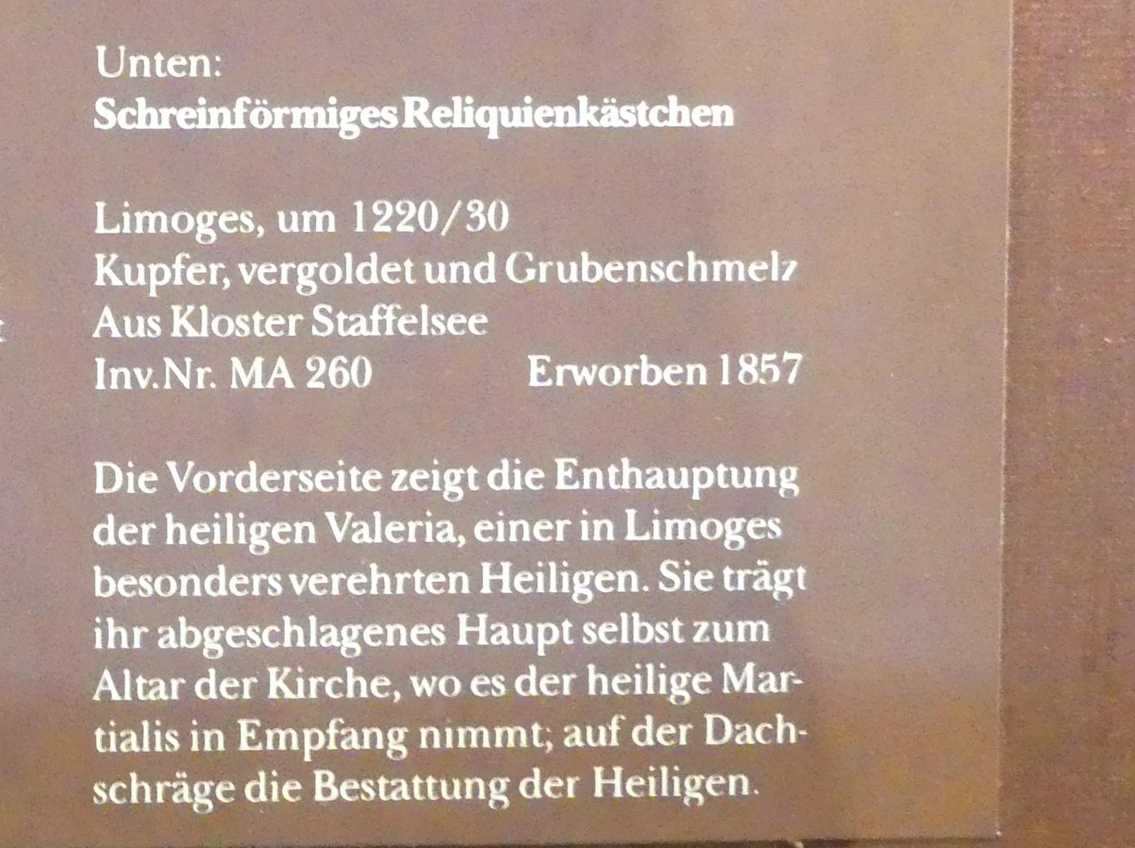 Schreinförmiges Reliquienkästchen, um 1220 - 1230, Bild 2/2