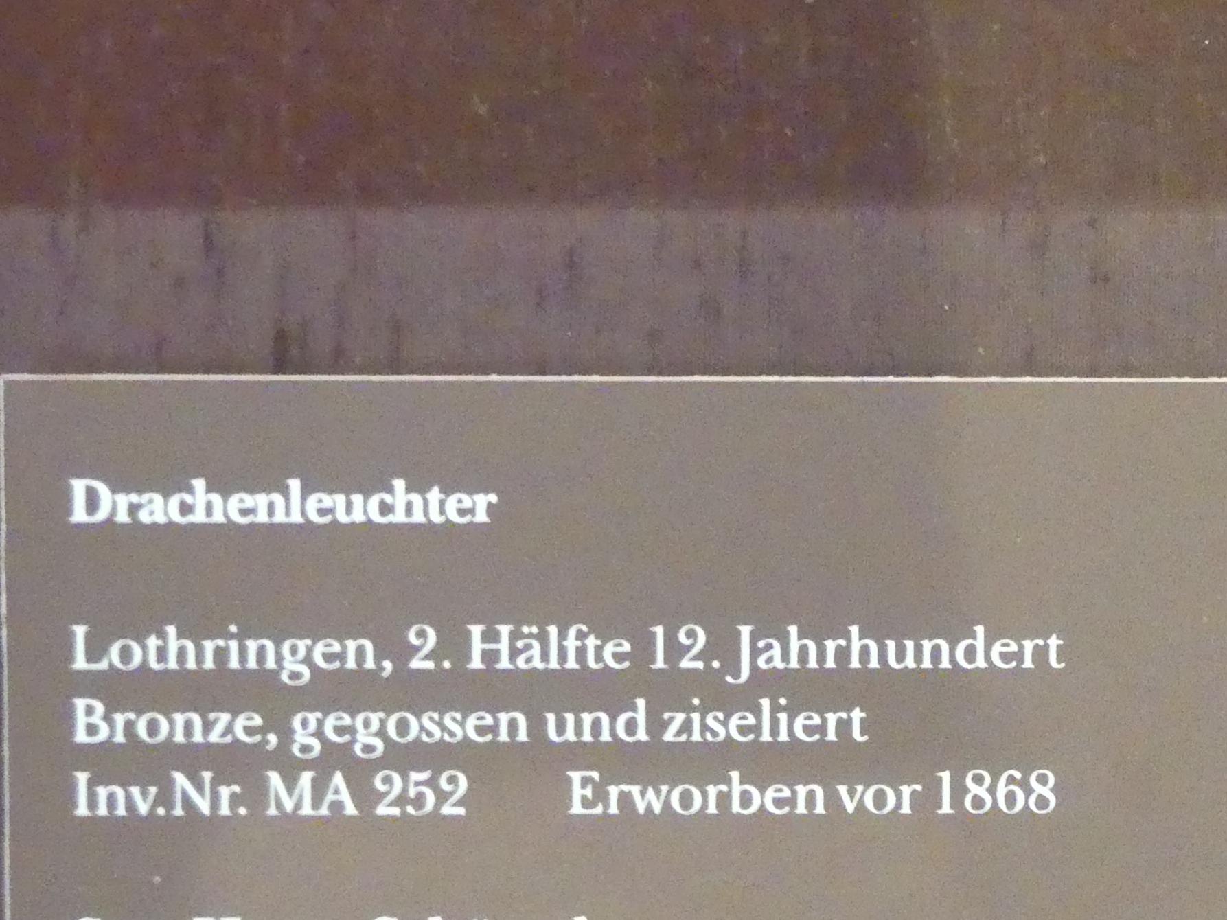 Drachenleuchter, 2. Hälfte 12. Jhd.