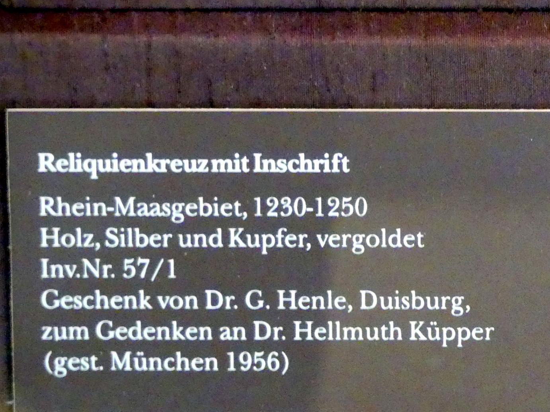 Reliquienkreuz mit Inschrift, 1230 - 1250, Bild 2/2