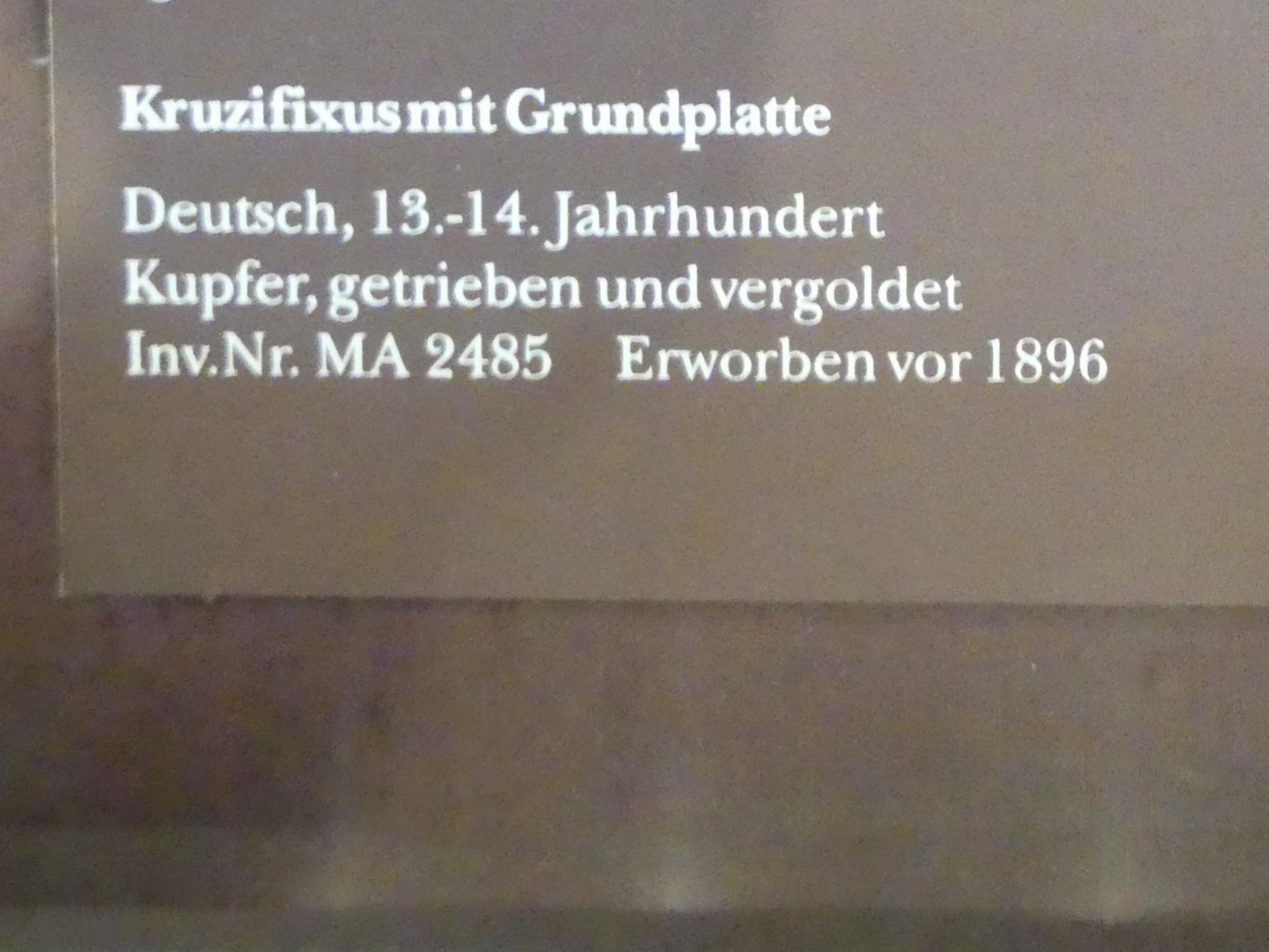 Kruzifixus mit Grundplatte, 1200 - 1400