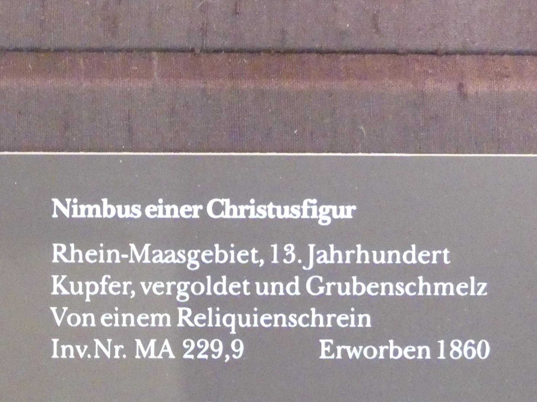 Nimbus einer Christusfigur, 13. Jhd., Bild 2/2