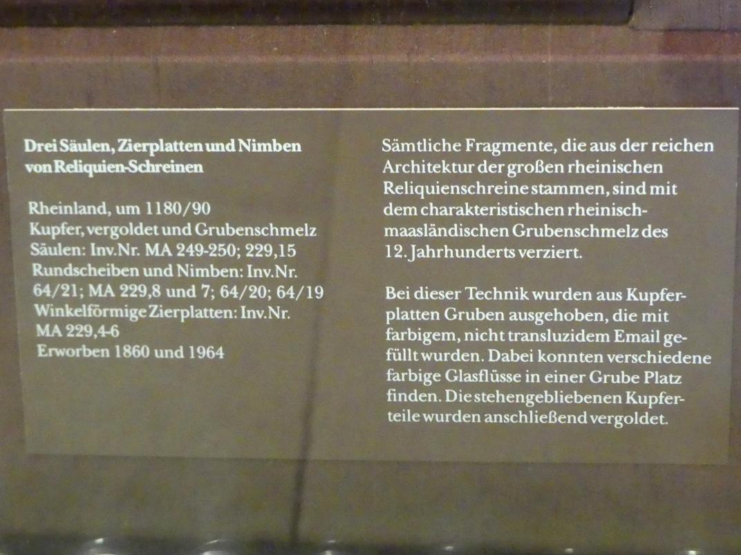 Drei Säulen von Reliquien-Schreinen, um 1180 - 1190, Bild 2/2