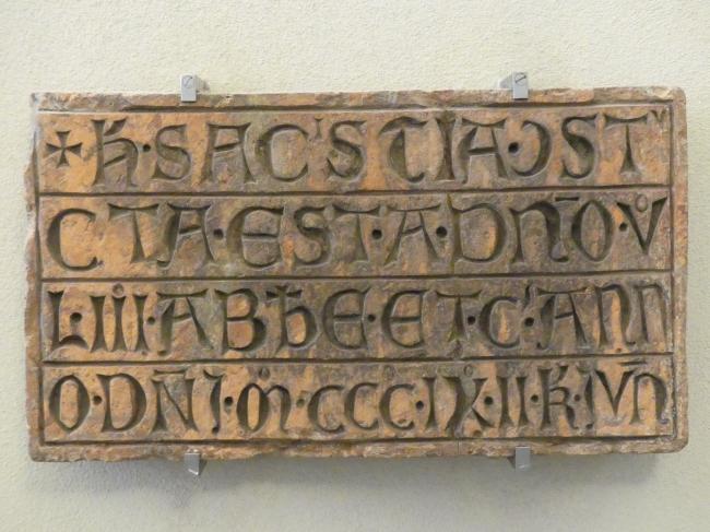 Inschrifttafel, 1309