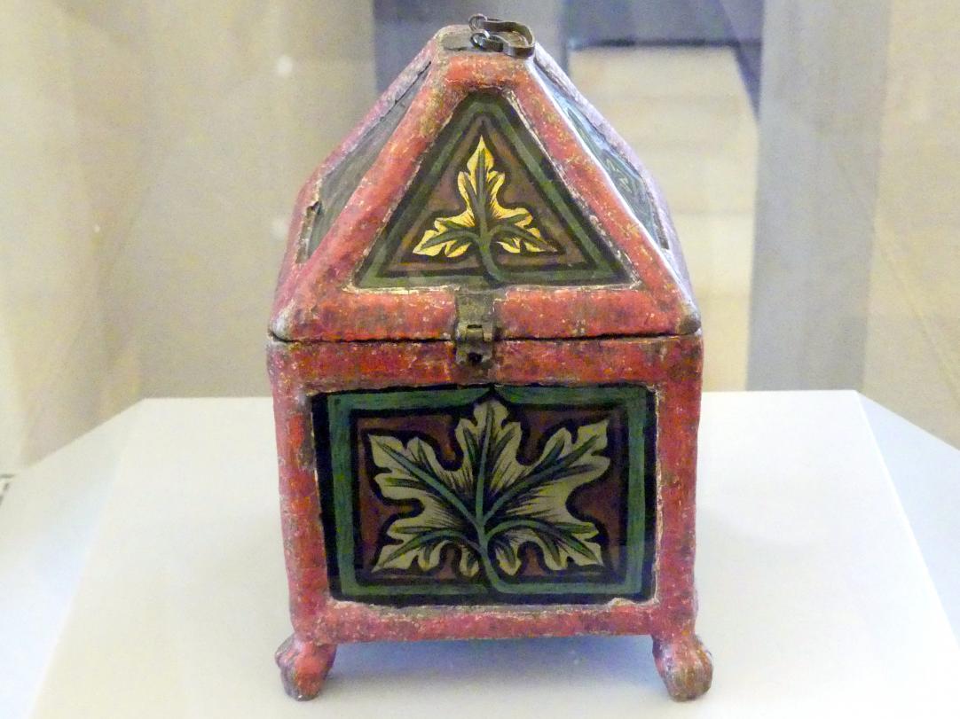 Holzkästchen mit Hinterglaseinlagen, Um 1330