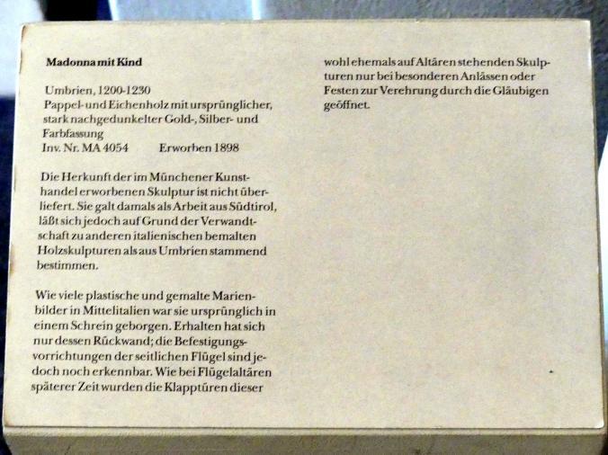 Madonna mit Kind, 1200 - 1230, Bild 3/3