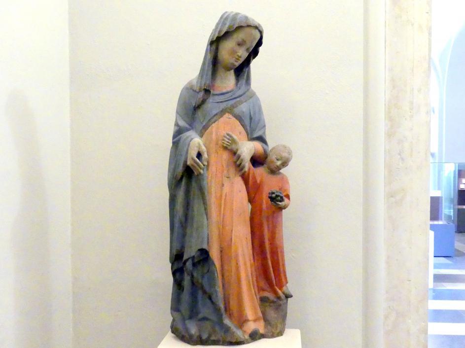 Muttergottes und Jesuskind mit Weintraube, Um 1350