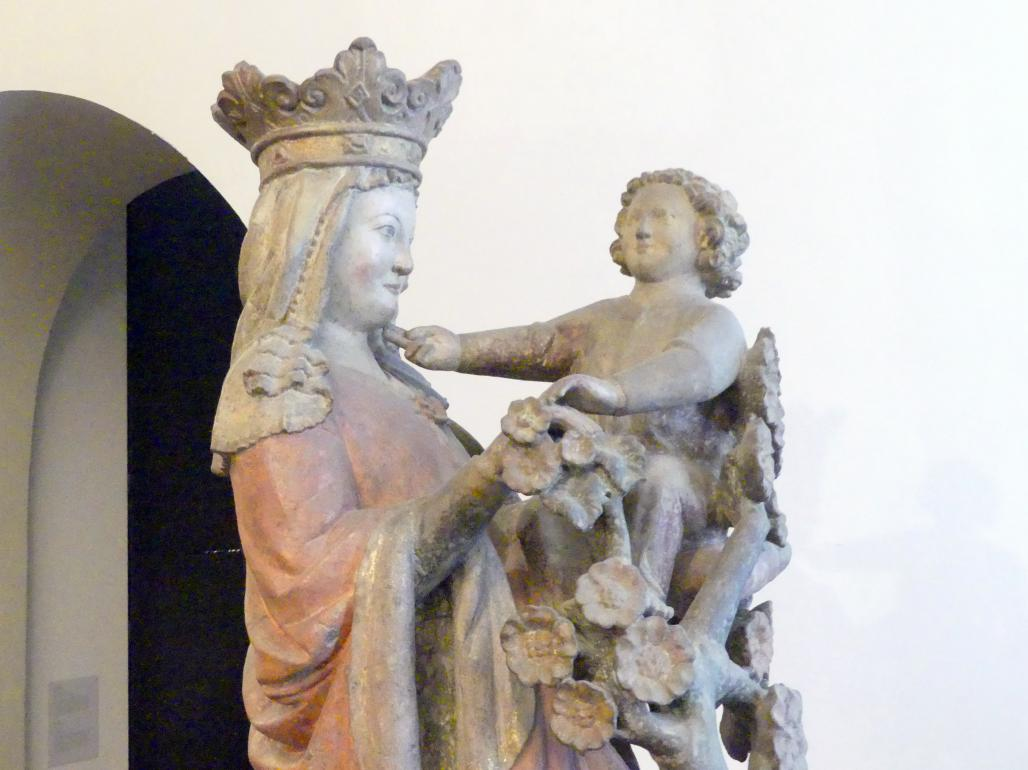 Muttergottes mit Jesuskind und Rosenstrauch, um 1300, Bild 2/5