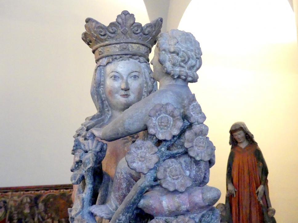Muttergottes mit Jesuskind und Rosenstrauch, um 1300, Bild 4/5
