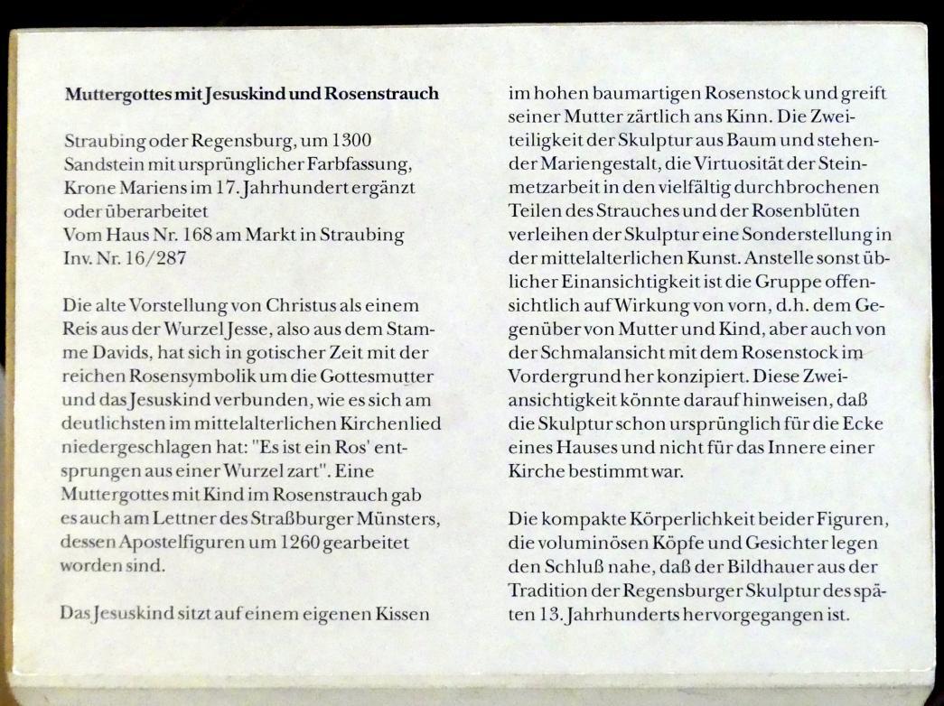 Muttergottes mit Jesuskind und Rosenstrauch, um 1300, Bild 5/5