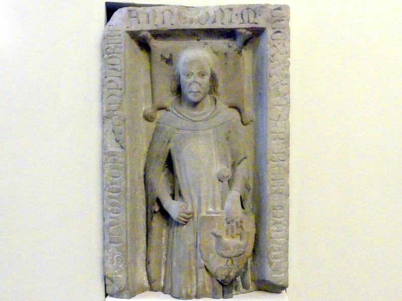 Grabplatte Bertholds von Henneberg, Um 1330