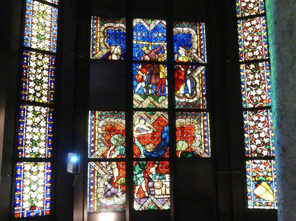 Heinrich Menger: Zehn Scheiben mit alttestamentlichen Szenen aus dem nördlichen Chorfenster der Minoritenkirche in Regensburg, Vor 1371