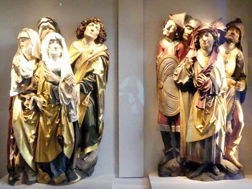 Tilman Riemenschneider: Zwei Gruppen aus einer Kreuzigung Christi, Um 1490