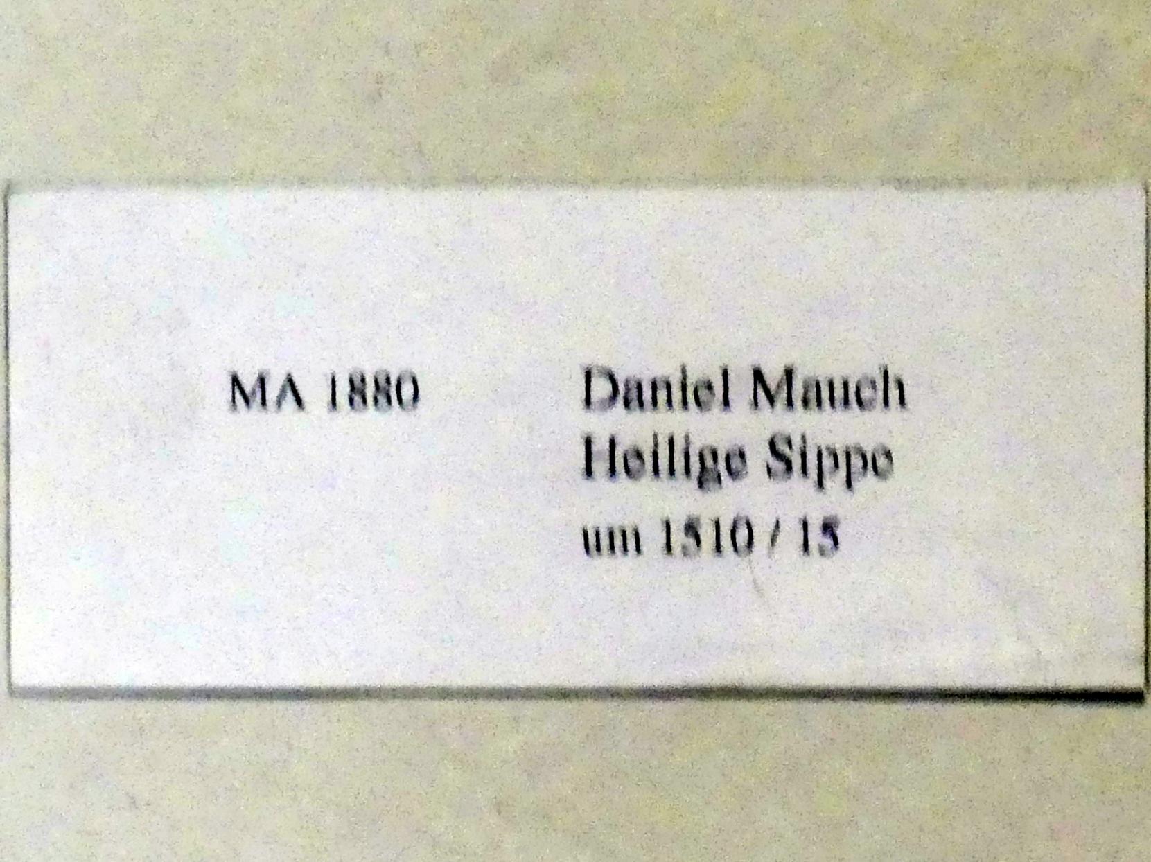 Daniel Mauch: Heilige Sippe, Um 1510 - 1515