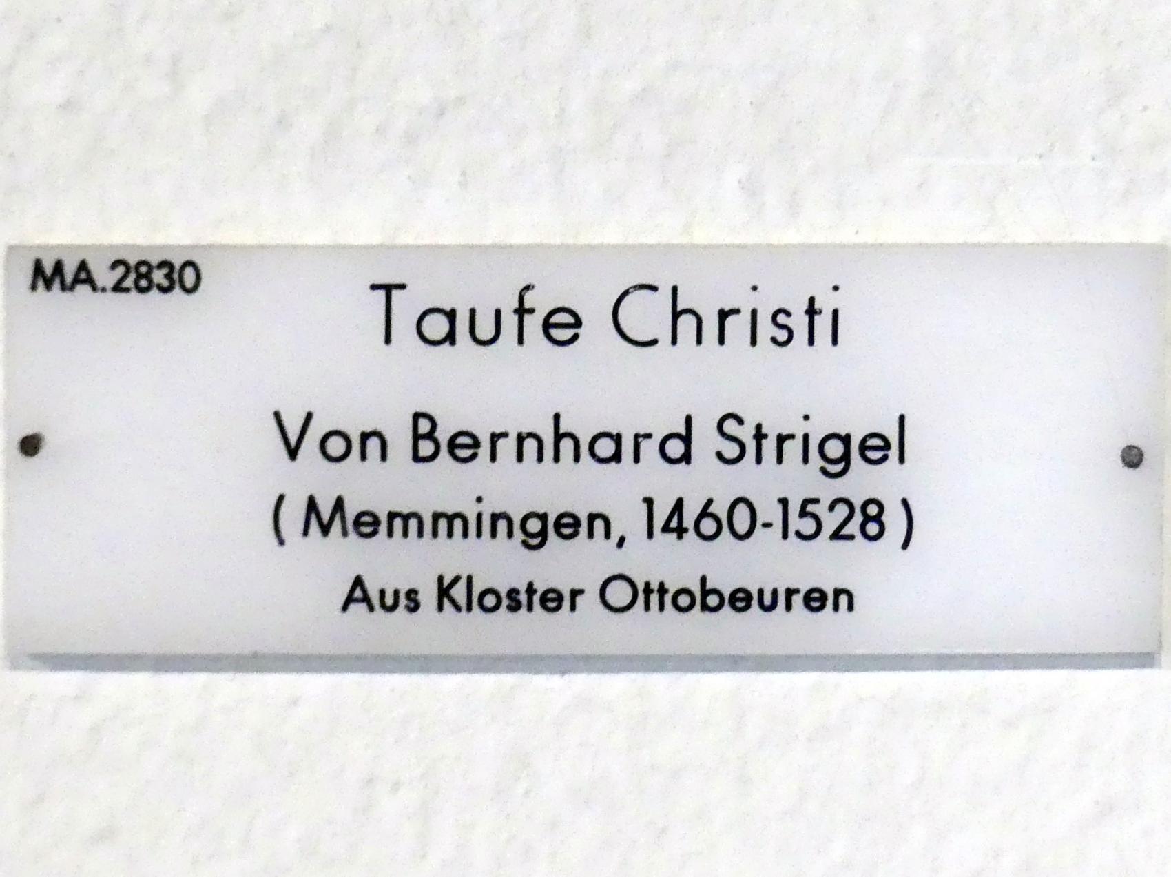 Bernhard Strigel: Taufe Christi, Undatiert, Bild 2/2