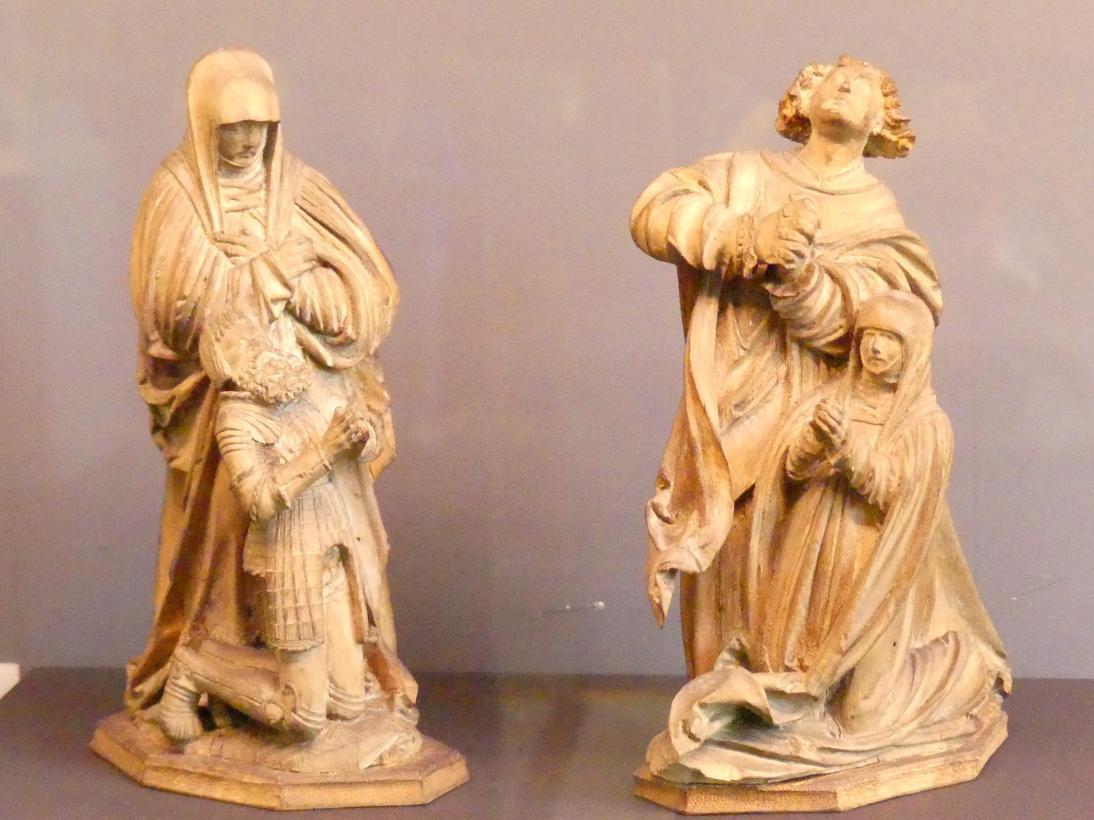 Hl. Maria und Johannes mit Stiftern, Um 1520
