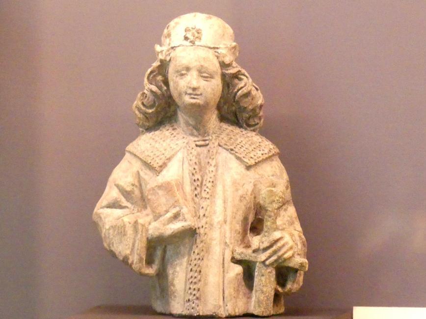 Halbfigur eines Heiligen, Um 1470 - 1480