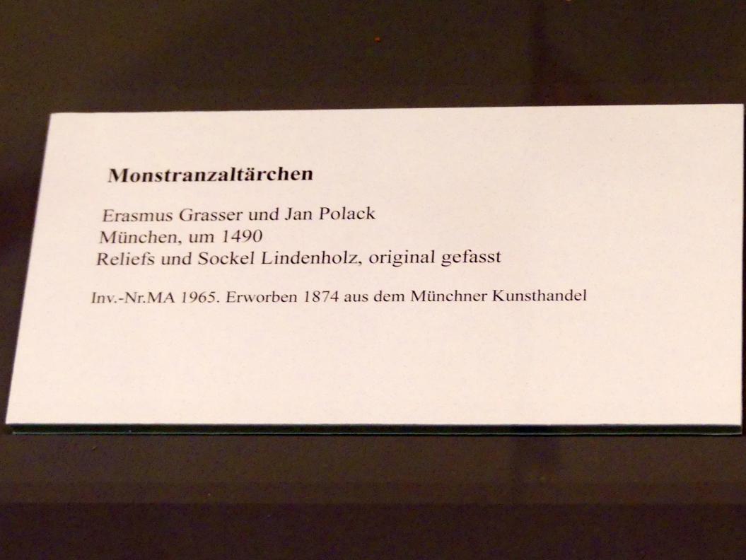 Erasmus Grasser: Monstranzaltärchen, um 1490, Bild 3/3