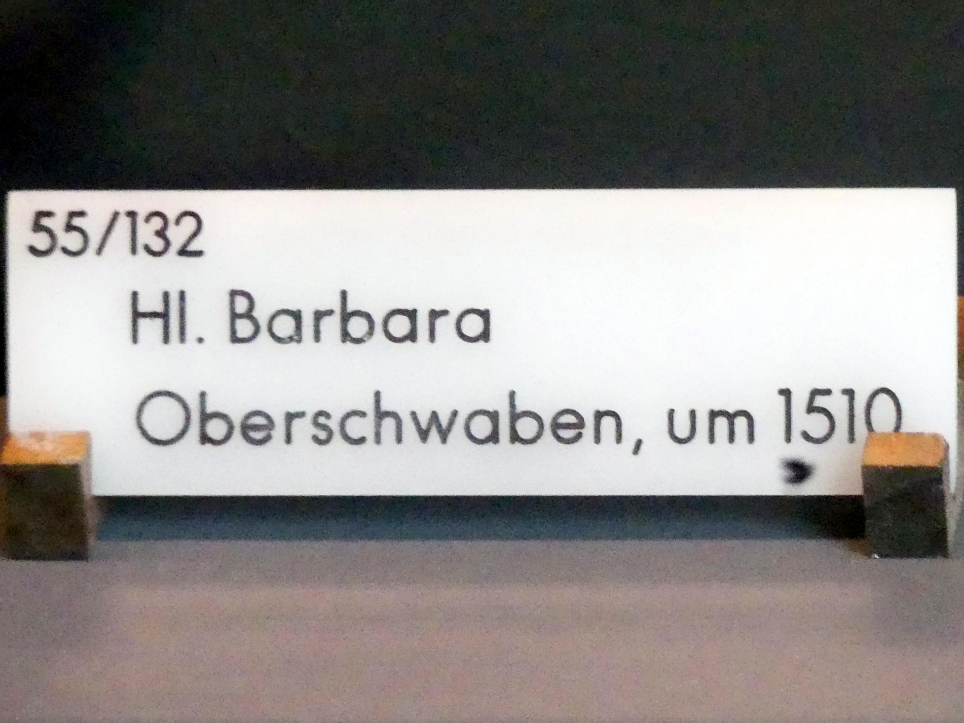 Hl. Barbara, Um 1510