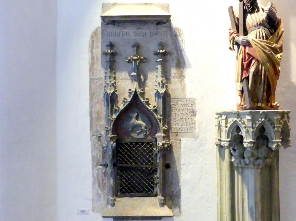Sakramentsnische mit Wappen des Geschlechts Bibra, 1452