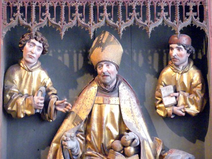 Gregor Erhart: Hl. Nikolaus und Büsten von zwei Diakonen, 1501