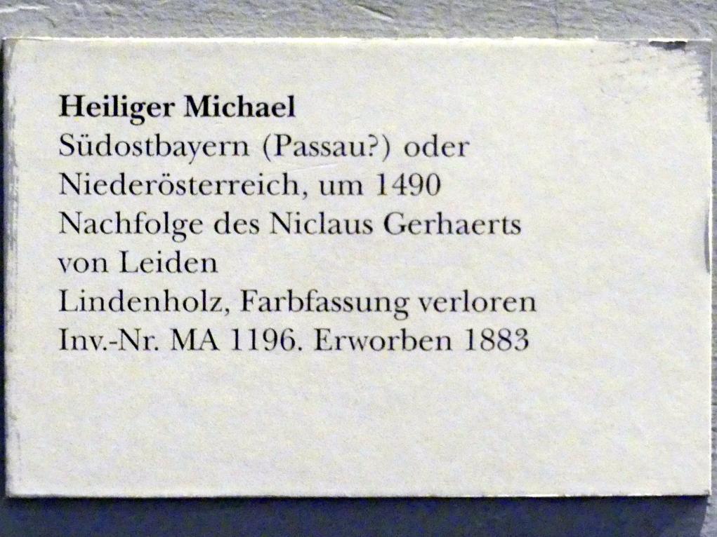Heiliger Michael, um 1490, Bild 4/4