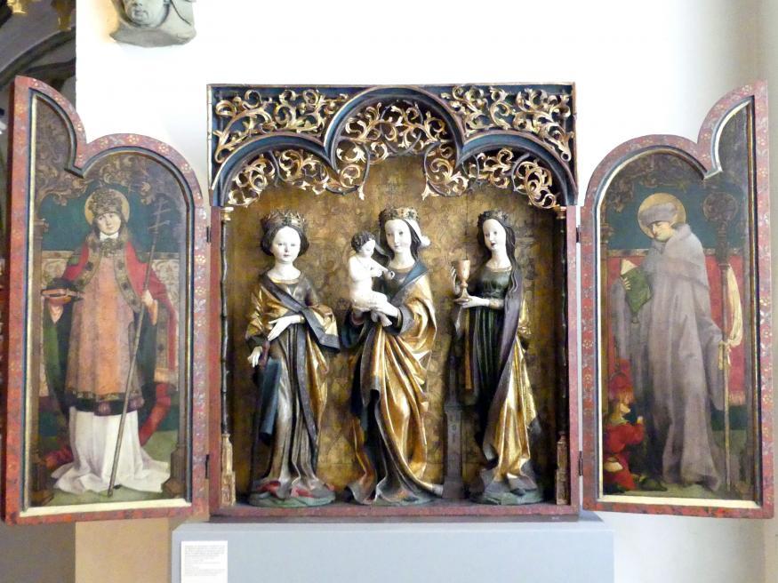 Meister des Untermenzinger Altars: Flügelaltar mit Muttergottes und Kind, um 1500