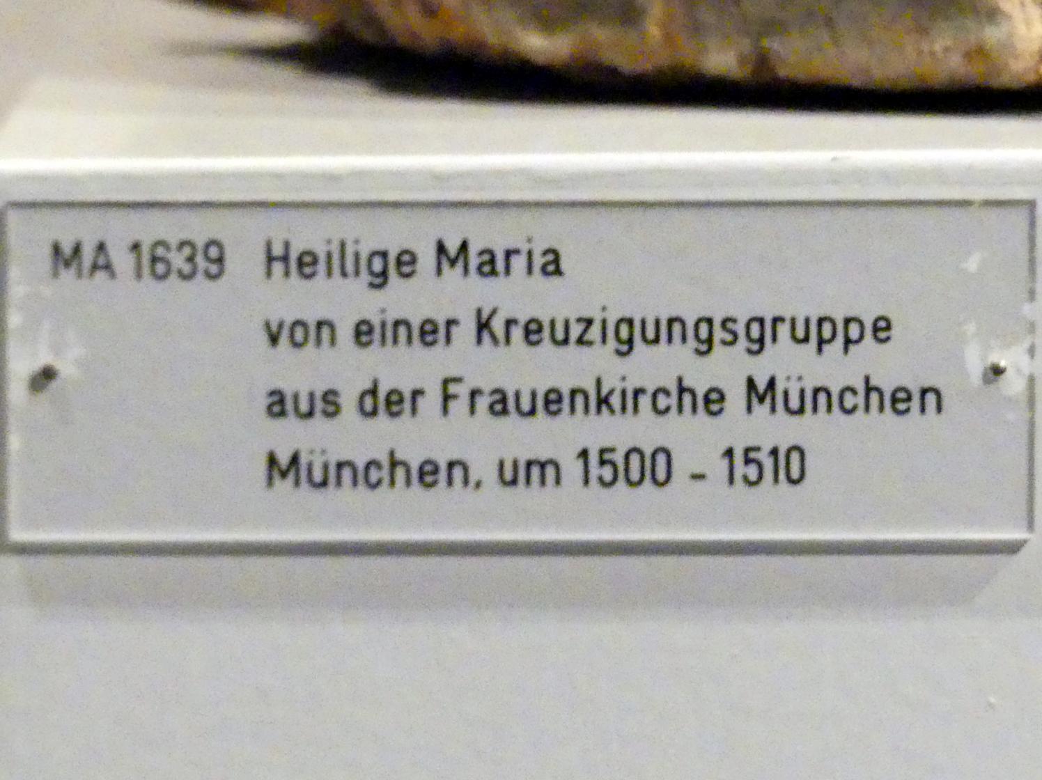 Heilige Maria von einer Kreuzigungsgruppe, um 1500 - 1510, Bild 3/3