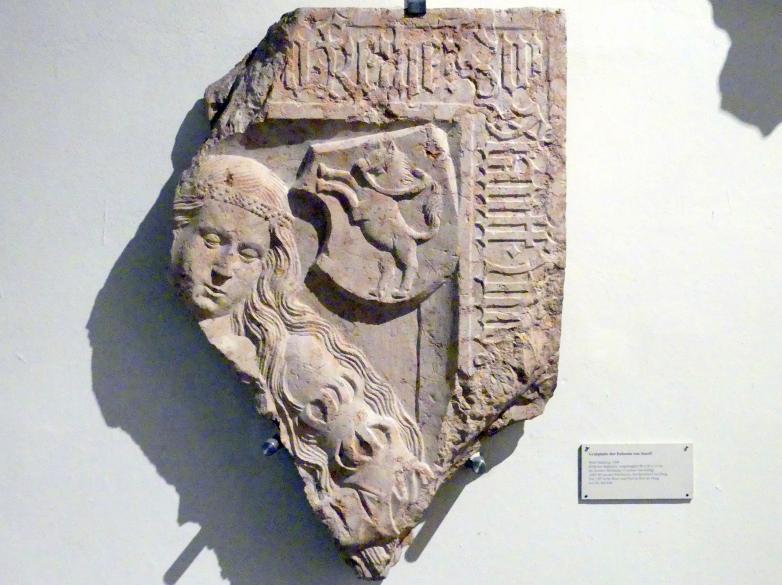 Grabplatte der Eufemia von Stauff, 1499