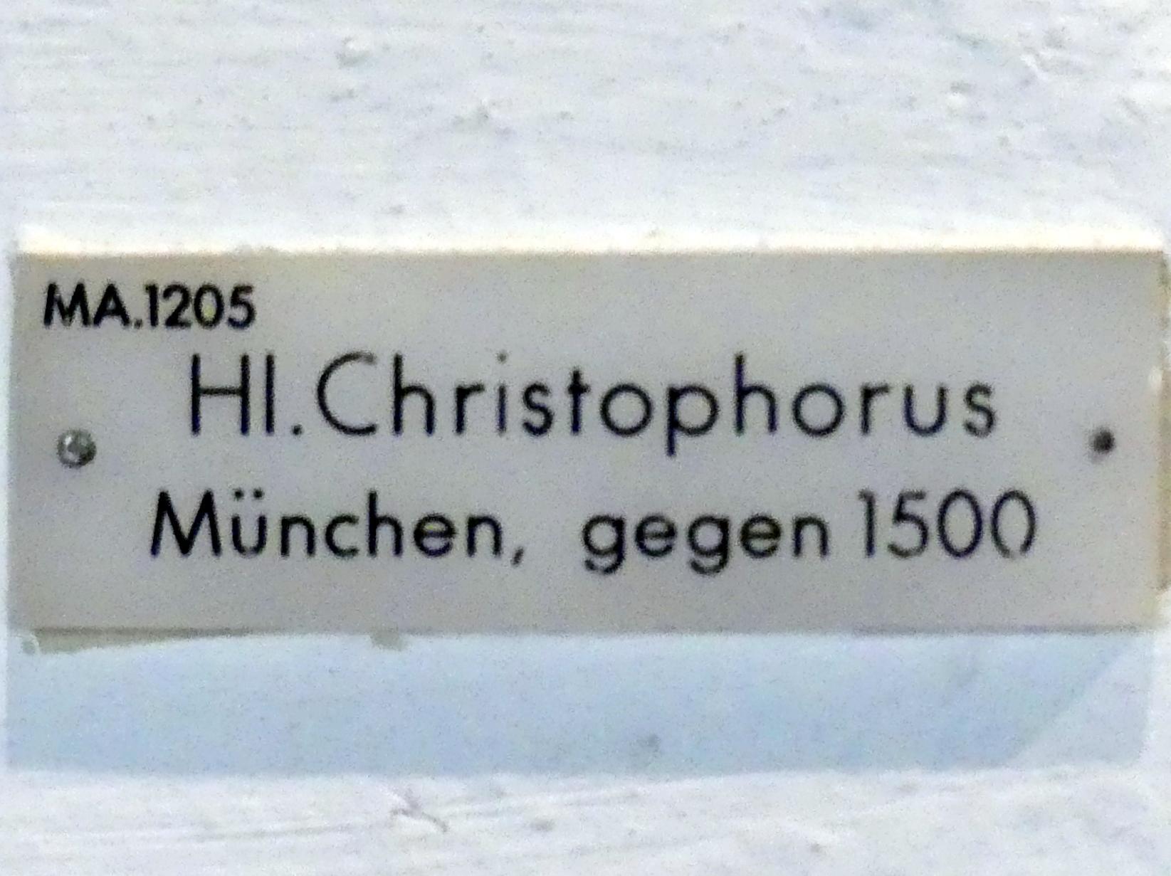 Hl. Christophorus, um 1490 - 1500, Bild 4/5