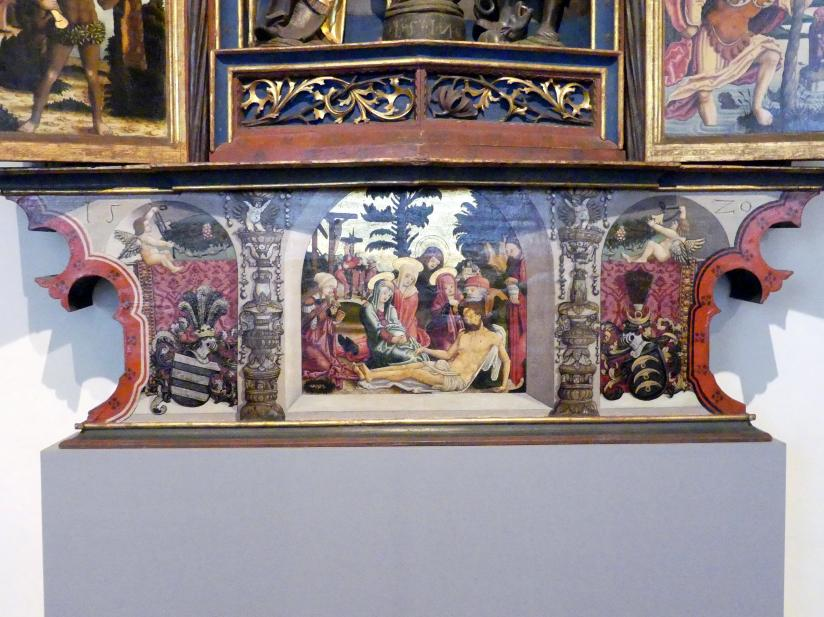 Meister von Rabenden: Marienaltar aus der Schlosskapelle St. Georg in Unterelkofen, 1517 - 1520