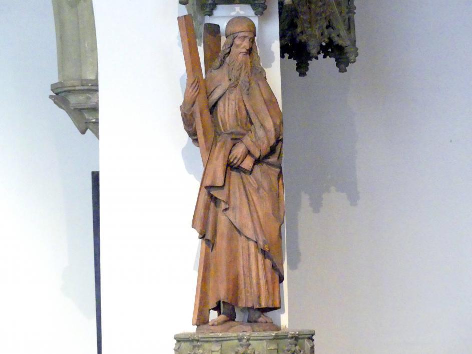 Meister der Blutenburger Apostel: Heiliger Andreas, um 1490 - 1500