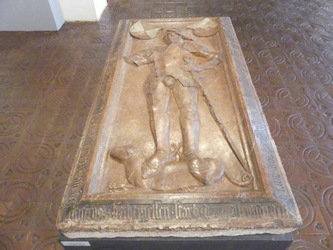 Grabplatte von Ludwig Paulsdorfer (gest. 1482) und Hans Paulsdorfer (gest. 1497), 3. Viertel 15. Jhd.