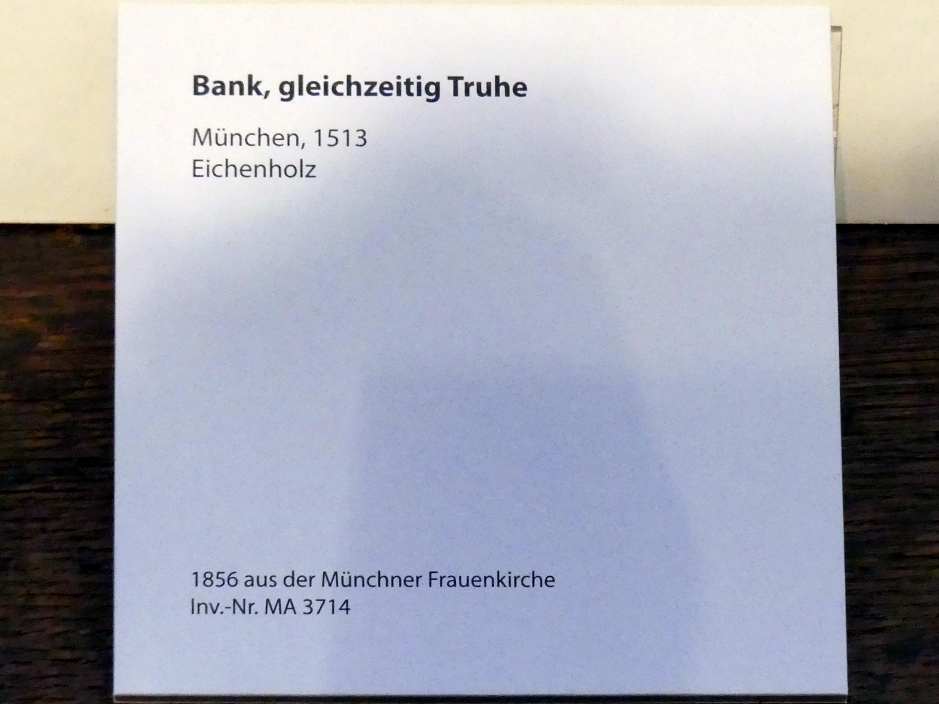 Bank, gleichzeitig Truhe, 1513, Bild 2/2