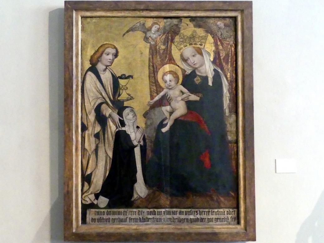 Johannes der Evangelist empfiehlt eine Nonne der Gottesmutter, 1443