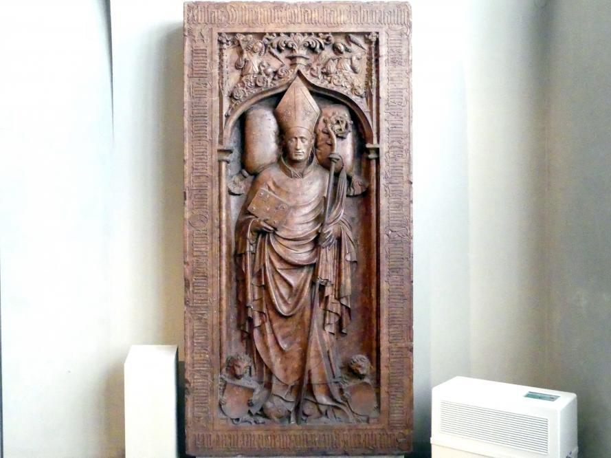 Grabplatte Abt Wilhelms I. von Ursberg, Um 1420