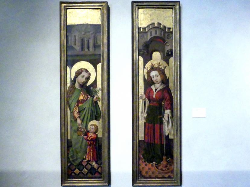 Meister der Madonna Straus: Hl. Dorothea mit Jesuskind und hl. Katharina, um 1440