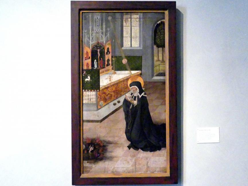 Gabriel Mälesskircher: Die heilige Ottilie im Gebet, 1476