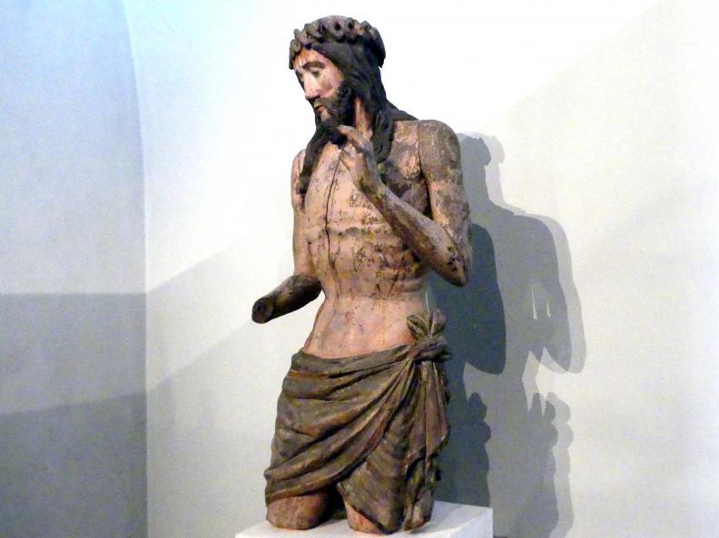 Christus als Schmerzensmann, Fragment, um 1430, Bild 3/4