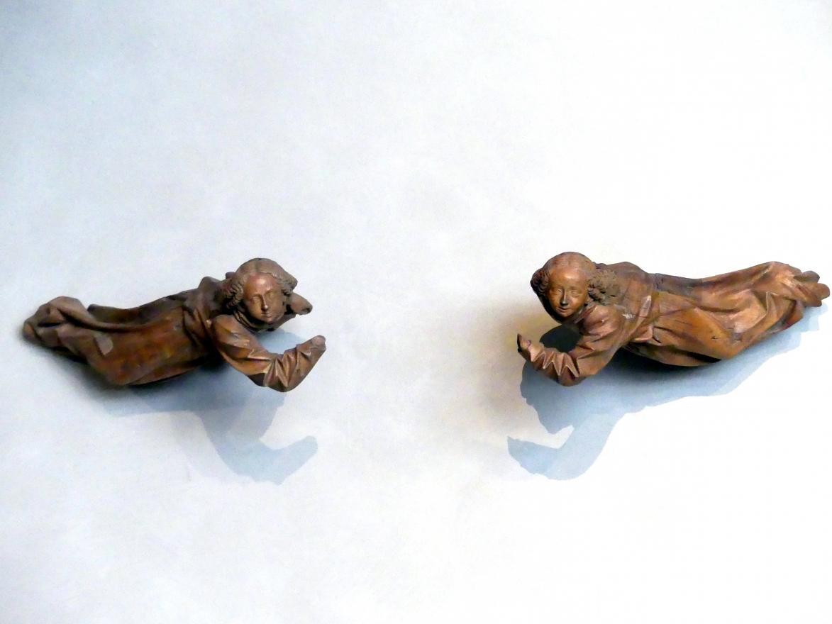 Hans Multscher: Zwei schwebende Engel, 1456 - 1459