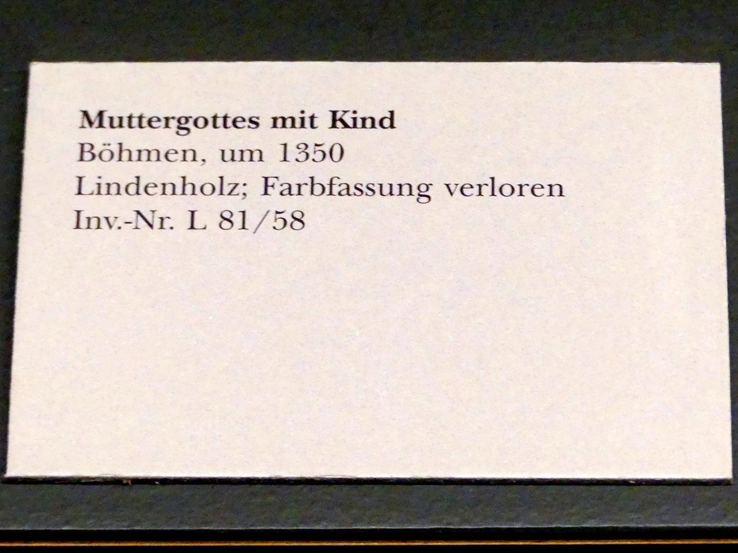 Muttergottes mit Kind, um 1350, Bild 3/3