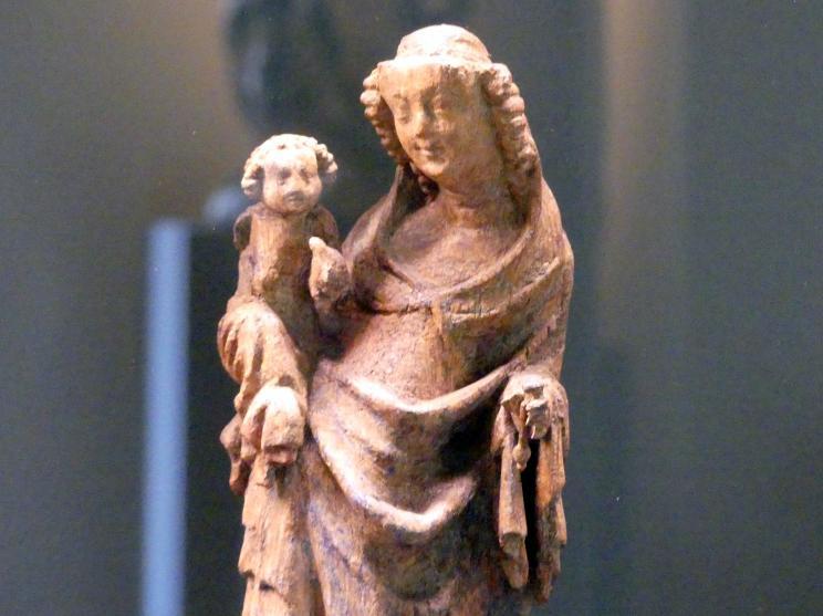 Muttergottes mit Kind auf einem Löwen stehend, um 1370 - 1380, Bild 2/3