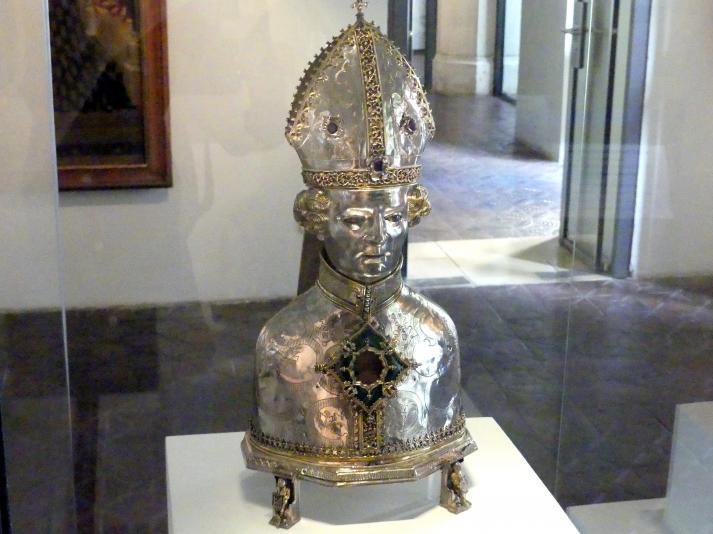 Silberne Reliquienbüste des heiligen Zeno, Um 1440