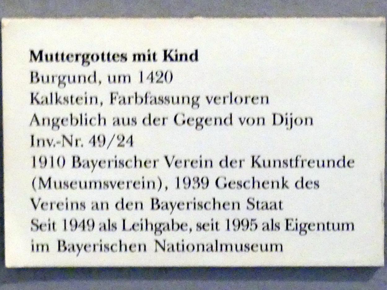 Muttergottes mit Kind, um 1420, Bild 4/4