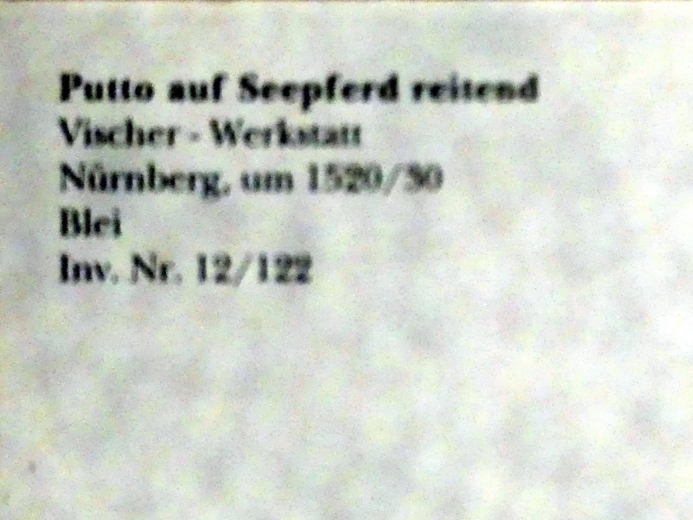 Hans Vischer (Werkstatt): Putto auf Seepferd reitend, um 1520 - 1530, Bild 3/3