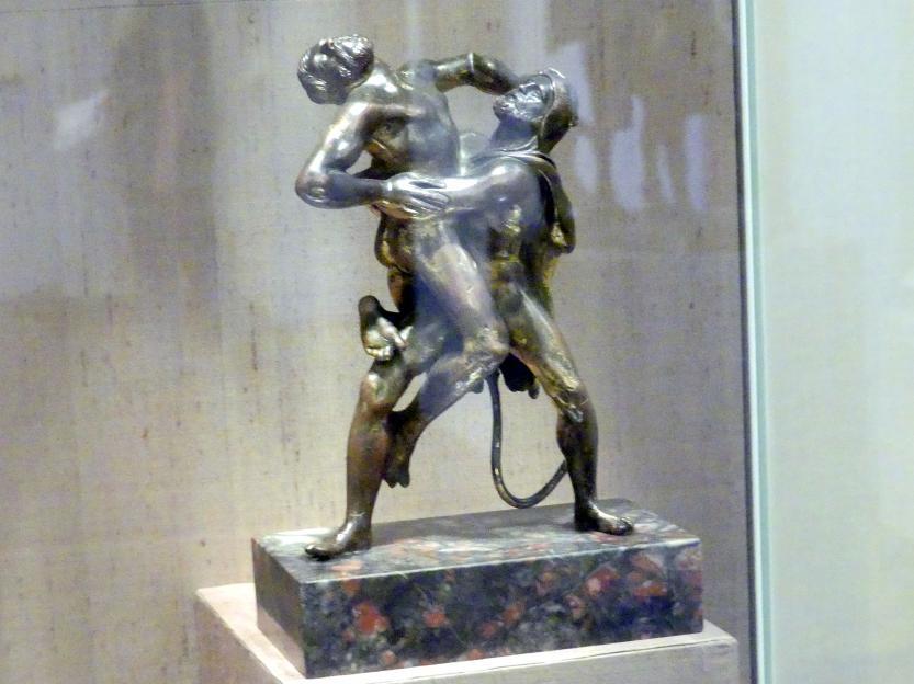 Hans Vischer (Werkstatt): Herkules und Antaeus, Beginn 16. Jhd.