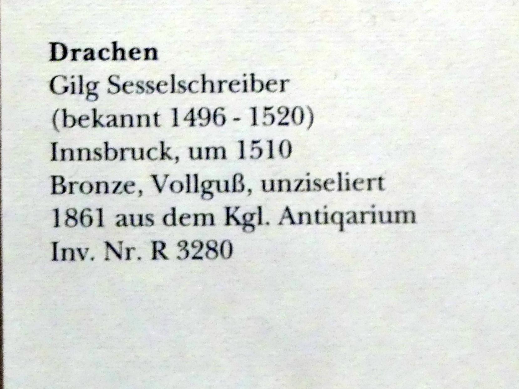 Gilg Sesselschreiber: Drachen, um 1510