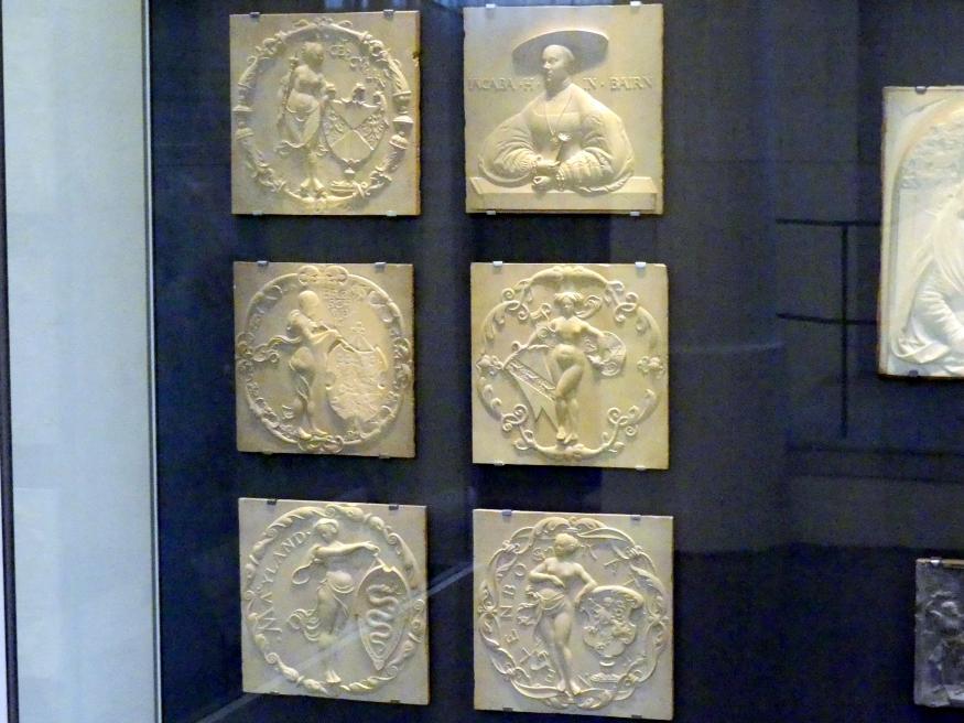 Thomas Hering: Jacobäa, Herzogin von Bayern, geb. Markgräfin von Baden mit fünf Ahnenwappen, um 1535 - 1540, Bild 2/8