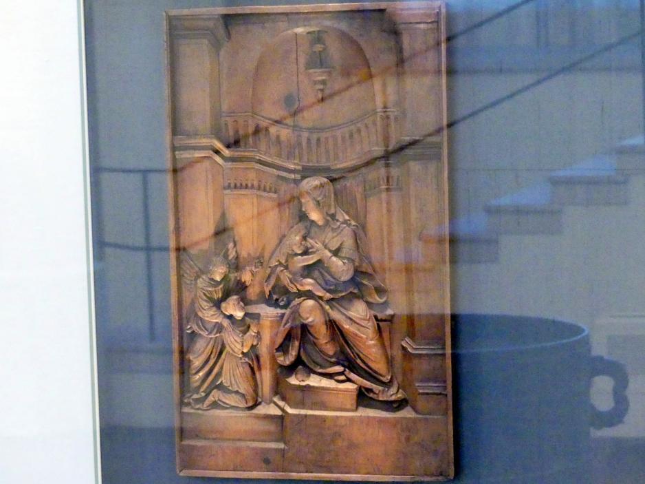 Sebastian Loscher: Muttergottes mit Stifterin, Um 1520