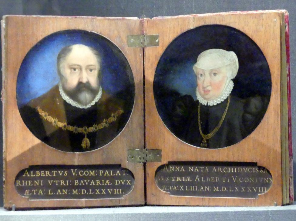 Christoph Schwarz: Herzog Albrecht V. und Anna, 1578, Bild 1/2